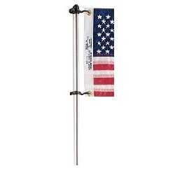 "30"" Flag Pole w/Clips"