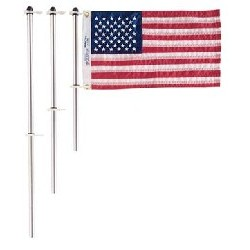 "18"" Flag Pole w/Clips"