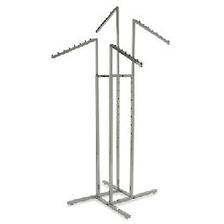 Chrome 4-Way Clothing Rack,...