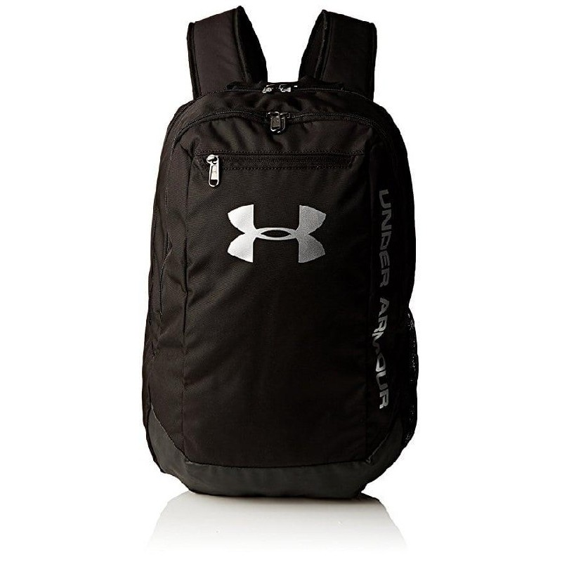 The Under Armour Hustle LDWR Backpack is made using a highly water  resistance fabric that repels rain and snow making it perfect for all  weather training ... 70cc38f269668